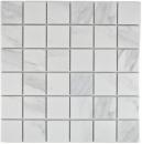Mosaik Fliese Keramik weiß Carrara MOS14-0102
