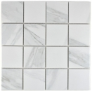 Mosaikfliese Carrara weiß grau Keramik Badfliese Fliesenspiegel Küche MOS16-0102_f | 10 Mosaikmatten