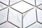 Mosaik Fliese Keramik weiß Diamant POV Carrara Wandfliesen Badfliese MOS13-0102