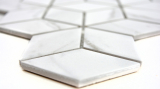 Mosaik Fliese Keramik weiß Diamant POV Carrara MOS13-0102