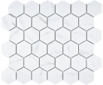 Mosaik Fliese Keramik weiß Hexagon Carrara MOS11G-0102