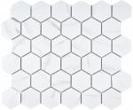 Mosaik Fliese Keramik weiß Hexagon Carrara Wandfliesen Badfliese MOS11G-0102_f | 10 Mosaikmatten