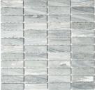 Mosaik Fliese Keramik Stäbchen Steinoptik grau Wandfliesen Badfliese MOS24-STSO23