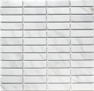 Mosaik Fliese Keramik Stäbchen Steinoptik weiß Fliesenspiegel Küche MOS24-STSO01