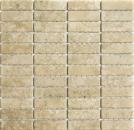 Mosaik Fliese Keramik beige Stäbchen Steinoptik beige Fliesenspiegel Küche MOS24-STSO67