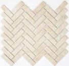 Mosaik Fliese Keramik Fischgrät Steinoptik hellbeige Fliesenspiegel Küche MOS24-SO54_f | 10 Mosaikmatten
