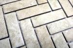 Mosaik Fliese Keramik Fischgrät Steinoptik beige Fliesenspiegel Küche MOS24-SO76_m