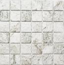 Mosaik Fliese Keramik Steinoptik Struktur hellgrau MOS16-HWA4LG