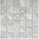 Mosaikfliese Naturstein Optik grau Struktur Badfliese Fliesenspiegel MOS16-0204_f | 10 Mosaikmatten