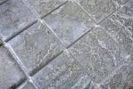Mosaikfliese Natursteinoptik dunkelgrau Struktur Fliesenspiegel Küche MOS16-0208_m
