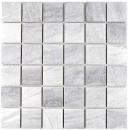 Mosaikfliese Natursteinoptik Struktur Travertin grau Fliesenspiegel MOS16-0211_f | 10 Mosaikmatten