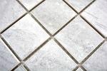 Mosaikfliese Natursteinoptik Struktur Travertin grau Fliesenspiegel MOS16-0211_m