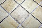 Mosaikfliese Natursteinoptik Struktur Travertin beige gelb Wandfliese MOS16-1202_m