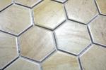 Mosaik Fliese Keramik Hexagon Travertin beige matt Fliesenspiegel Küche MOS11G-1202_m