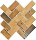 Mosaik Fliese Keramik braun Fischgrät Holz dunkel Fliesenspiegel Küche MOS24-2004_f