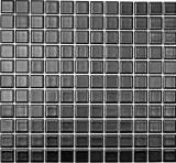 Mosaikfliese Keramik SCHWARZ MATT Fliesenspiegel Wandfliesen Küche MOS18-0311_f