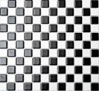 Mosaikfliese Keramik Schachbrett schwarz weiß matt Fliesenspiegel MOS18-0305