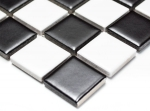 Mosaikfliese Keramik Schachbrett schwarz weiß matt Fliesenspiegel MOS18-0305_m