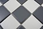 Schachbrett Mosaik RUTSCHEMMEND RUTSCHSICHER schwarz weiß MOS14-0103-R10_m