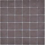 Keramik Mosaik Fliese BODENFLIESE DUNEKLBRAUN RUTSCHEMMEND RUTSCHSICHER Fliesenspiegel - MOS16-1305-R10
