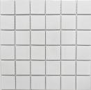Mosaik Fliese Keramik weiß glänzend Fliesenspiegel Badezimmerwand MOS16B-0101_f