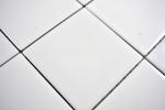 Mosaik Fliese Keramik weiß glänzend Fliesenspiegel Küche MOS23-0101_m