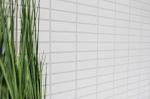 Mosaik Fliese Keramik Stäbchen weiß glänzend Fliesenspiegel Küche MOS24-0102_m