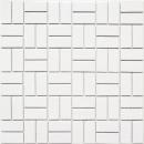 Mosaik Fliese Keramik Windmühle weiß glänzend Küchenfliese Wandfliese MOS24-CWM7WG
