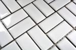 Mosaik Fliese Keramik Windmühle weiß glänzend Küchenfliese Wandfliese MOS24-CWM7WG_m