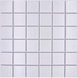 Keramik Mosaik Fliese weiß matt Fliesenspiegel Badezimmerwand MOS16B-0111