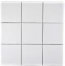 Mosaik Fliese Keramik weiß matt Badewannenverkleidung MOS23-0111