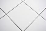 Mosaik Fliese Keramik weiß matt Badewannenverkleidung MOS23-0111_m