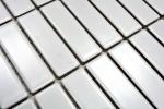 Mosaik Fliese Keramik Stäbchen weiß matt Badewannenverkleidung MOS24-0111_m