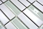 Mosaik Fliese Keramik Stäbchen weiß matt Glas Badewannenverkleidung MOS24-ST325_m