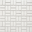Mosaik Fliese Keramik Windmühle weiß matt Badewannenverkleidung MOS24-CWM07WM_f