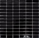 Mosaik Fliese Keramik Stäbchen schwarz glänzend Badewannenverkleidung MOS24B-0301_f