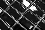 Mosaik Fliese Keramik Stäbchen schwarz glänzend Badewannenverkleidung MOS24B-0301_m