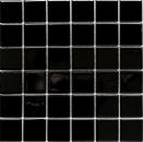 Mosaik Fliese Keramik schwarz glänzend MOS16B-0301
