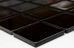 Mosaik Fliese Keramik schwarz glänzend Fliesenspiegel Küchenrückwand MOS16B-0301_m