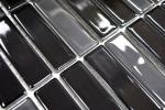 Mosaik Fliese Keramik Stäbchen schwarz glänzend Glas Fliesenspiegel Küche MOS24-ST355_m