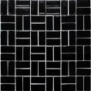Mosaik Fliese Keramik Windmühle schwarz glänzend MOS24-CWM8BG
