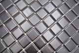 Mosaikfliese Keramik schwarz matt Fliesenspiegel Küchenrückwand MOS18D-0311_m