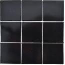 Mosaik Fliese Keramik schwarz matt Fliese WC Badfliese MOS23-0311