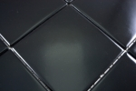 Mosaik Fliese Keramik schwarz matt Fliese WC Badfliese MOS23-0311_m