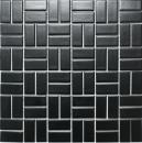 Mosaik Fliese Keramik Windmühle schwarz matt Wandfliesen Badfliese MOS24-CWM08BM_f