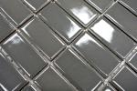 Mosaik Fliese Keramik metallgrau Stäbchen metall glänzend MOS24B-0204_m
