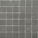 Mosaik Fliese Keramik metallgrau metallglänzend MOS16B-0204