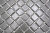 Mosaikfliese Keramik metall grau matt Küchenrückwand Spritzschutz MOS18D-0211_m
