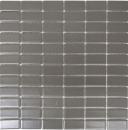 Mosaik Fliese Keramik metallgrau Stäbchen metall matt MOS24B-0211