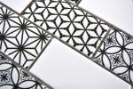 Mosaikfliese grau weiss schwarz Subway Fliesenspiegel Küche glänzend MOS26M-0103_m